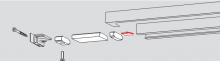 Ограничитель угла открывания для скользящего канала