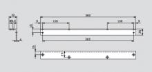 Угловая монтажная пластина для скользящего канала